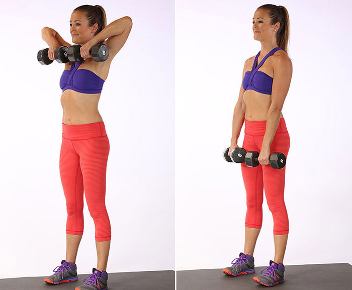 Комплекс упражнений с гантелями для женщин