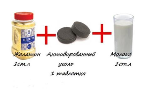 Чистка лица активированным углем и желатином