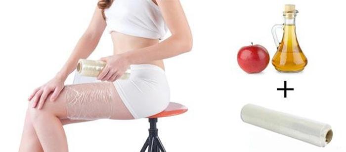 Особенности уксусного обертывания против целлюлита, отзывы и видео-рецепт яблочного уксуса