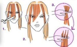 Основные правила подстригания челки в домашних условиях