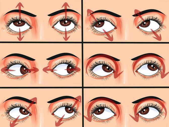 Упражнения для улучшения зрения дома