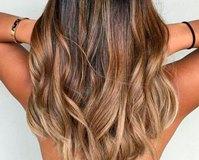 Окрашивание балаяж на темные и русые волосы средней длины
