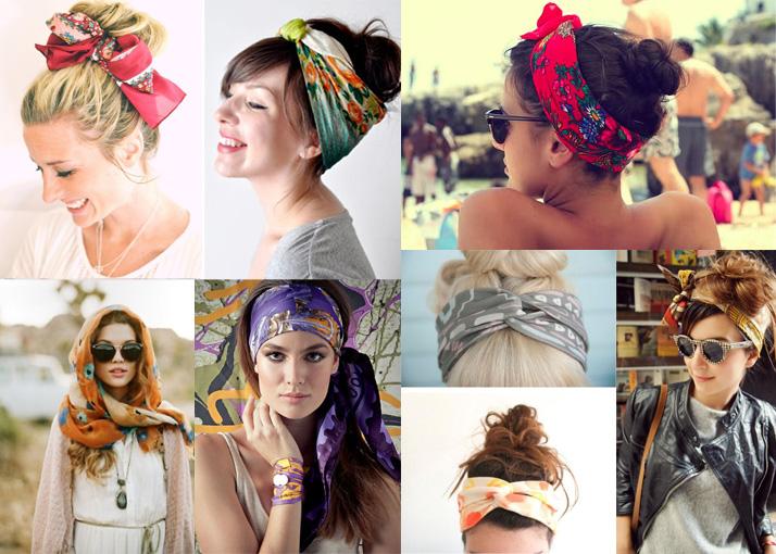 Оригинальные способы завязывания платка на голове