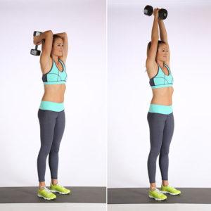 Упражнения с гантелями для мышц спины
