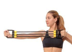 Тренировка с плечевым эспандером