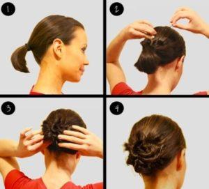 Как быстро сделать пучок на короткие волосы